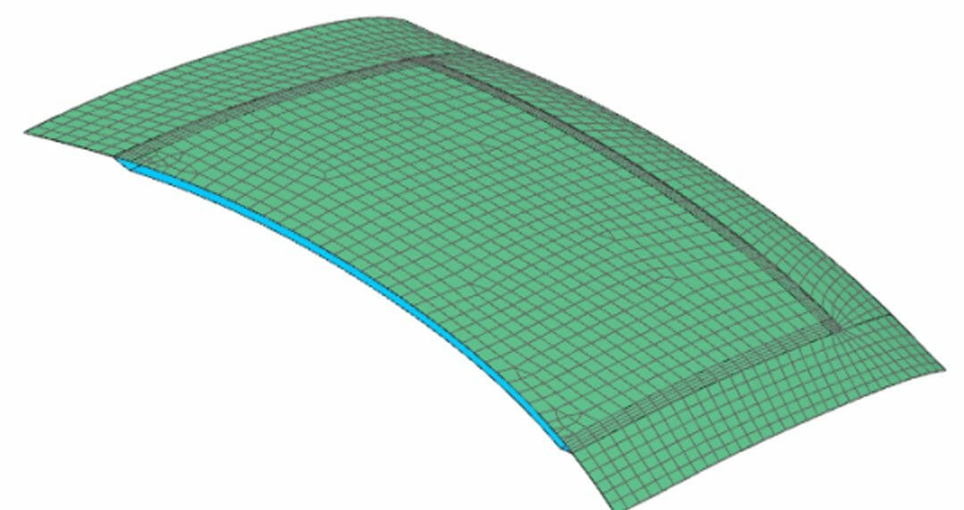 How to create 3D solid mesh for a sandwich composite laminated car hood using Simcenter Laminate Composites